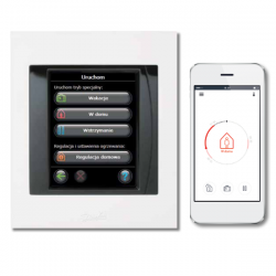 Danfoss Link CC panel centralny wersja z zasilaczem podtynkowym PSU, z możliwością zdalnego zarządzania z aplikacji na smartfon.