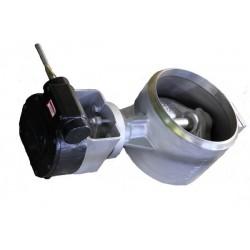 Przepustnica do wspawania AKBW DN250 PN25 z potrójnym  mimośrodem z przekładnią mechaniczną