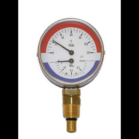 Termomanometr WP 80 R 120/0.6 MPa